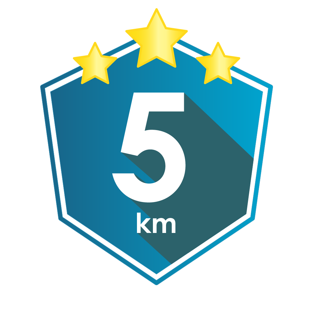You've done 5km