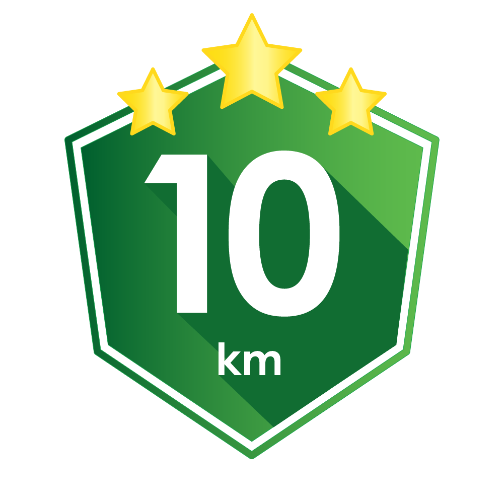 You've done 10km